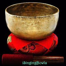 "Antique Tibetan Singing Bowl: Thado 7 1/4"", circa 18th century, G#3 & D5.VIDEO"