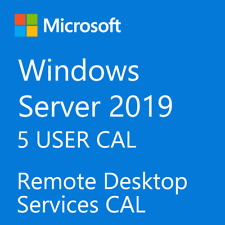 Microsoft Windows Server 2019 Remote Desktop Services RDS 5 USER CAL License