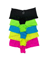 5 PACK New Womens Low Rise Lace Cheeky Brief Supersoft Underwear Panties M-XXL