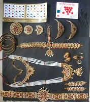 20 pieces Temple Jewelry stones South Indian Bridal Bharatanatyam Dance Set /.
