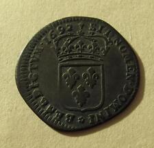 1692 M France 15 Deniers Douzain Coin French Europe Louis XIV