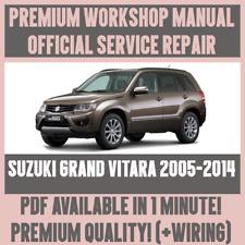 *WORKSHOP MANUAL SERVICE & REPAIR GUIDE for SUZUKI GRAND VITARA 2005-2014