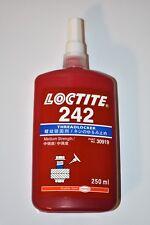Loctite 242 Threadlocker Medium Strength 250ml tube. Expiration 2021