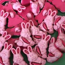 6 x 20 mm Novelty pink rabbit Buttons #1015