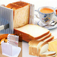 Plastic Splicing Toast Bread Slicer Cutting Guide Tools Loaf Cutter Rack Slicing