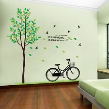 LOT of 10 Sheets of Bike and Tree Wall Decal Decor for Living room wall SC8