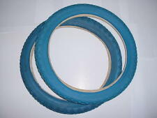 BICYCLE TIRES BLUE WALLS 16 X 1.75 OLD SCHOOL BMX NOS NEW