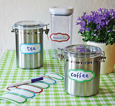 WALLIES DRY ERASE LABELS stickers 10 decals for jelly mason jars glass container