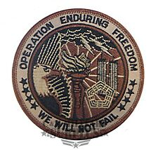 USAF Operation Enduring Freedom We Will Not Fail Military Patch Large Round