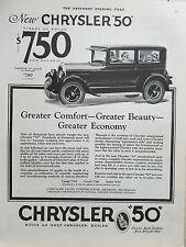 1926 Chrysler 50 Coach Car $750 Original Automobile Ad
