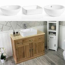 Bathroom Vanity | Solid Oak Wash Stand Cream Top & Ceramic Basin A