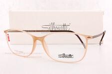 New Silhouette Eyeglass Frames URBAN LITE FULLRIM 1572 6059 Brown Crystal Unisex