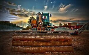 DIGGER CONSTRUCTION CANVAS PICTURE POSTER PRINT WALL ART UNFRAMED 1381