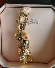 BRAND NEW JUICY COUTURE TERRIER DOGGY BRACELET CHARM IN TAGGED BOX