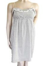 COUNTRY ROAD SZ L (12-14) WOMENS White & Black Check Short Sleeveless Sundress