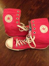 d39391e3e323 CONVERSE CHUCK TAYLOR ALL STAR MID CALF BOOTS HOT PINK CANVAS WOMENS 10  MENS 8