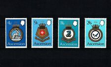 ASCENSION - 1970 - COATS OF ARMS - ROYAL NAVY SHIPS - CRESTS - MINT - MNH SET!