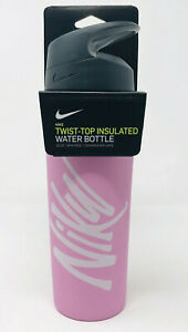 New Nike 16 OZ Twist Top Insulated Water Bottle Leakproof Stainless Steel Gym