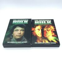 The Incredible Hulk First & Second Seasons DVD Sets Bill Bixby 1 2