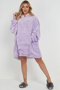 Teddy Fleece Fluffy Sherpa Over sized Wearable Soft Blanket Hoodie