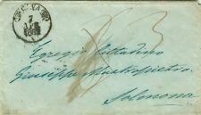 C52-CAMPANIA, PREF., DA DA CAVA A SULMONA, TASSA 6 POI CORRETTA CON 3,  1862
