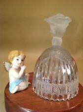 Goebel~ Vintage 1970's Happy Birthday Crystal Bell Plus Porcelain Cherub