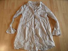 SANDWICH schöne lange Bluse taupe weiß Gr. 36 NEUw.   ZC1115