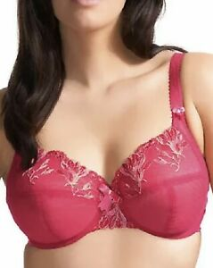 Elomi Maggie Bra Fuchsia Pink Size 30F Underwired Full Cup Side Support 8140 New