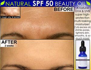 Natural SPF 50 Face Moisturizer Beauty Oil For Skin Lightening, Oily Skin & more