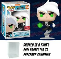 Funko Pop Nickelodeon Danny Phantom #854 NYCC 2020 *OFFICIAL CON STICKER* W CASE