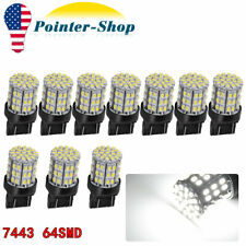 10x White 7443 7440 LED Interior RV Camper Car Truck 64SMD T20 Brake Tail Light