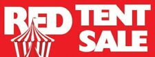 Red Tent Sale Vinyl Banner Sign - 3' X 8'