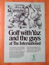 1984 CARL YASTRZEMSKI Boston Red Sox GOLF w/ YAZ at the International Ad Poster
