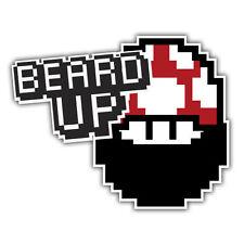 BARBA UP / 1up fungo retrò con barba Adesivo dal signor oilcan 100 x 80 mm