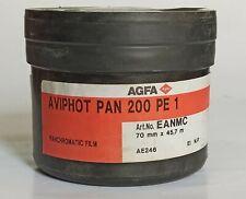 AGFA Aviphot Pan 200 PE1 Panchromatic Negative Film (NOS)  70mm x 45,7m EXP 2012