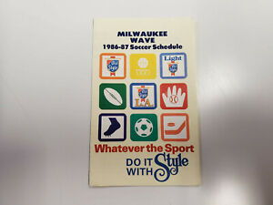 RS20 Milwaukee Wave 1986/87 AISA Soccer Pocket Schedule - Old Style