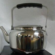 Stainless Steel Tea Pot Elegant Exterior Finish Tea Kettle.  2.7 LT.