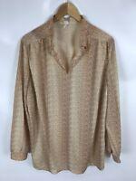 TRU BLOUSE Shirt, Vintage, mehrfarbig, Größe 50