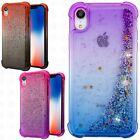 For Apple iPhone XR Liquid Glitter TPU Quicksand Hard Case Phone Cover Accessory