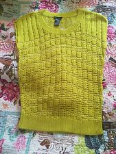 Ann Taylor Women Sleeveless Yellow Top Size: XS New With Tag