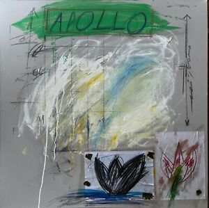 CY TWOMBLY - paint signed on original canvas of 60's - APOLLO