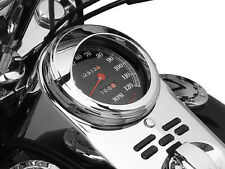 Harley-Davidson FLSTFI Fat Boy 2001-2006Speedometer Visor Chrome by Kuryakyn