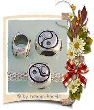 ♥ spacer bead charm Yin Yang European tíbet plata plata Antik ♥ pbs065
