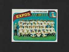 1980 Topps #479 MONTREAL EXPOS Team Card Unmarked Checklist NRMT No Creases
