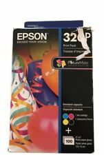 Epson T320P Ink Cartridge/Paper Kit - Black, Cyan, Magenta, Yellow.  Exp. 6/2018