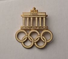 Vintage Souvenir Olympic Games enamel pin Badge 1936 Berlin Germany Olympiade