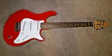 00006000 Vintage Peavey Raptor Plus. Red Electric Guitar Sss Pickups Korea w Gig Bag