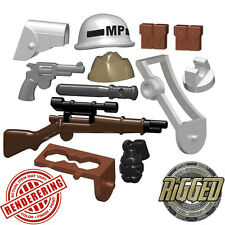"Brickforge USA WW2 ""Military Police"" Accessory Pack for Lego Minifigures NEW"