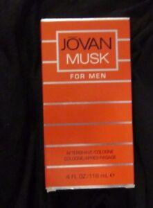 JOVAN MUSK AFTER SHAVE COLOGNE FOR MEN OLDER VERSION 4 OZ +