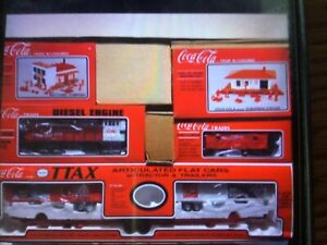 Coca Cola TTAX Tractor Trailer Train Set, collectible, New Set, O/O27 gauge.